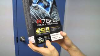 XFX Radeon HD 7850 Double D 2GB Gaming Video Card Unboxing & First Look Linus Tech Tips