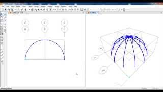 SAP2000-Modeling of Dome Frame Structure Civil Engineering
