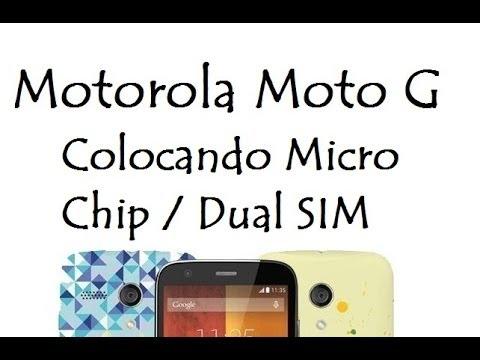 Moto G 1º Geração   Colocando Micro Chip - Dual SIM