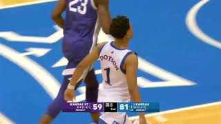 Kansas State vs Kansas Massive Brawl Breaks Out | 2020 College Basketball