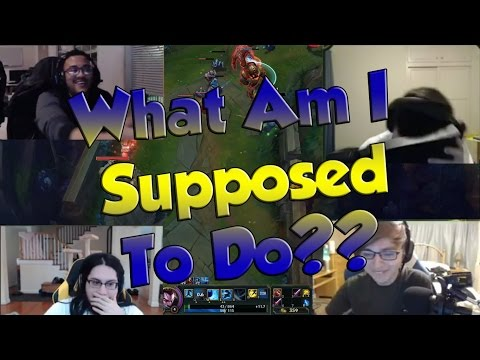 League of Legends Funny Stream Moments #2 - WHAT AM I SUPPOSED TO DO?