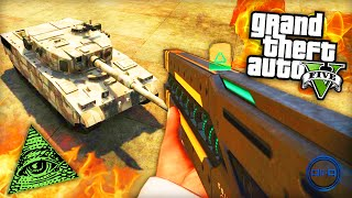 "GTA 5 Funny Moments - ""RAILGUN vs TANK!"" - (Grand Theft Auto V PS4 Gameplay)"