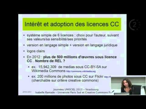 JOURNEES UNISCIEL: Les ressources éducatives libres, les licences creative commons