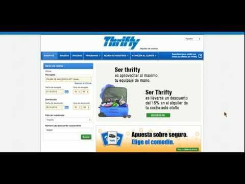 Thrifty.es Numero de descuento corporativo - Cupón descuento Thrifty Alquiler de Coches