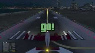 GTA V - How to Gold Medal Every Flight School Lessons HD