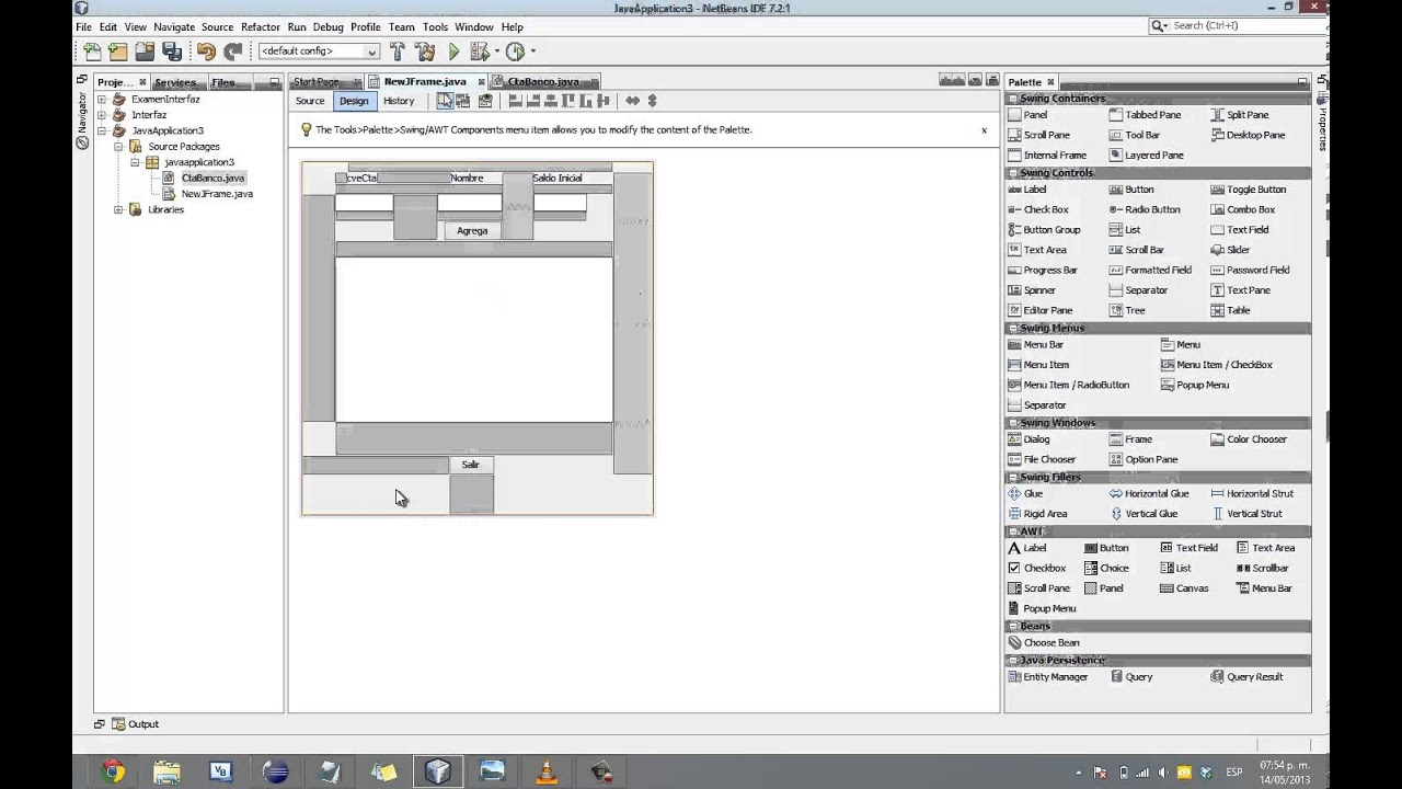 Tutorial NetBeans Creacion de Interfaz Grafica Java - YouTube