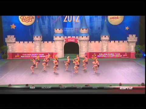 University of St. Thomas Dance Team 2012 UDA College Nationals ESPN