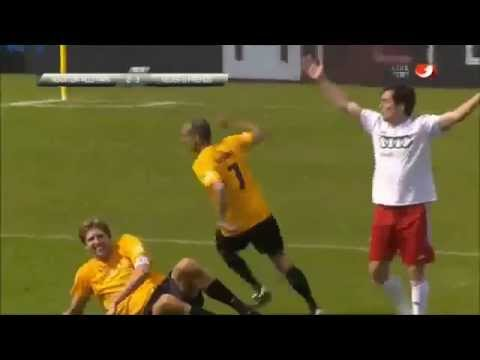 Dallas Mavericks Dirk Nowitzki Flops At Celebirty Soccer Game In Germany!