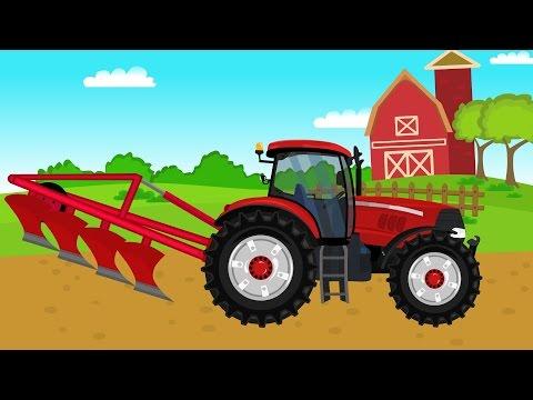 Tractor Working At The Field   For Kids   Traktor Traktorek Traktory Dla Dzieci i inne