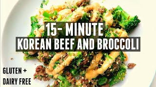 15-MINUTE BEEF & BROCCOLI | gluten and dairy free!