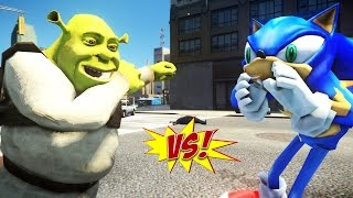 SHREK VS SONIC - GREAT BATTLE