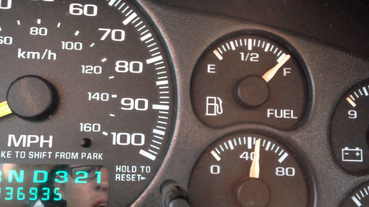 2001 silverado 1500 fuel gauge problem