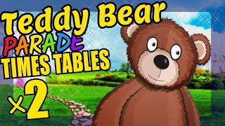 Teddy Bears Teaching Multiplication Times Tables x2 Educational Math Video for Kids