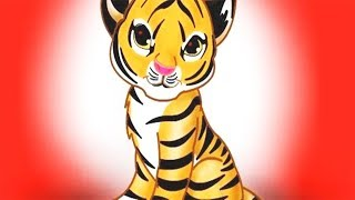 Colorful Game – Travel Around with a Tigers Family, Learn Wild Animals in the Forest, Children Songs