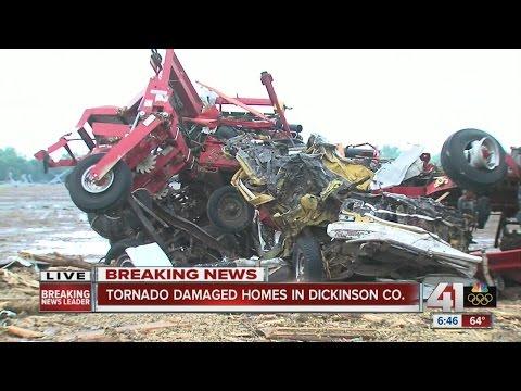 Tornado damage in Dickinson County