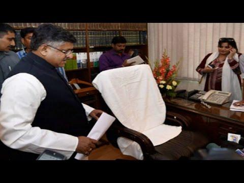 Union Minister Ravi Shankar Prasad conducts surpiize raid