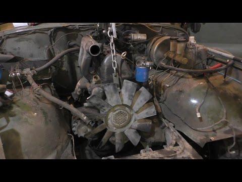 Уазтех: газель, замена двигателя mercedes om616, 24л на om617, 3л