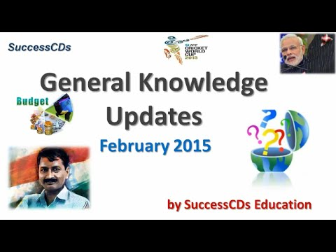 Latest General Knowledge and Current Affairs India February 2015