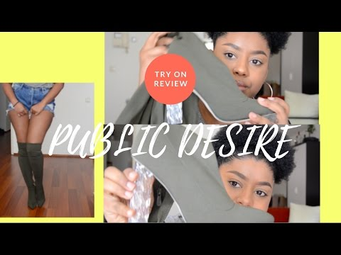 PUBLIC DESIRE THIGH HIGH BOOTS REVIEW : FIRST IMPRESSIONS / TRY ON