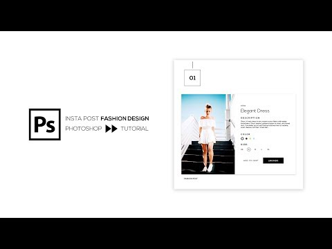 Instagram Post Fashion Design Template - Photoshop Tutorial