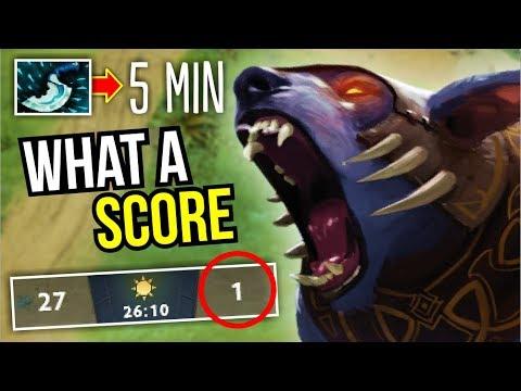 ENEMY KILL = 1   WTF Game Ursa 5 Min Dagger 7.07 by Bone7   Dota 2