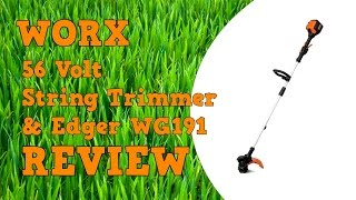 Worx 56V String Trimmer & Edger Review WG191