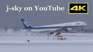 [4K] Plane Spotting in Snow - New Chitose Airport [CTS/RJCC] 2016 / 新千歳空港 JAL ANA