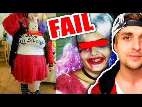 Harley Quinn FAILS... LOL   Los PEORES disfraces de Halloween
