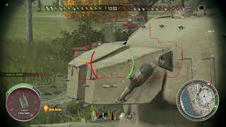 World Of Tanks XBOX One - Nameless tank ricochets and hits another tank