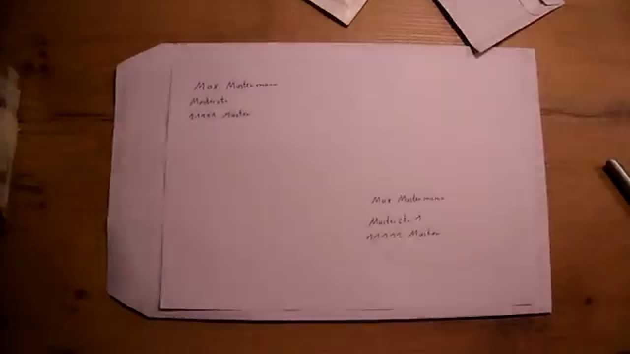 Reviews >> Umschlag richtig beschriften - Brief beschriften - Versandtasche beschriften by The Handyman ...