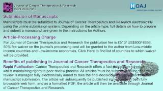 Journal of Cancer Therapeutics and Research