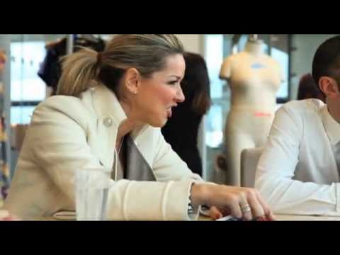 Claire Sweeney at the Fashion World HQ - Talking Samples!