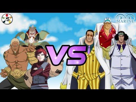 [MUGEN 3vs3] Kage (Naruto) VS Admiral (One Piece)
