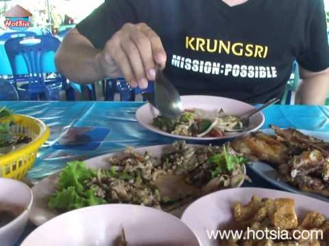 ไก่ย่างห้วยทับทัน(esan food buriram)