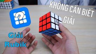 Giải được Rubik mà không cần phải học cách giải nhờ app này