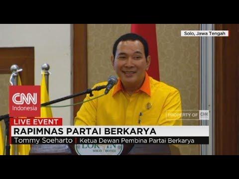 FULL Tommy Soeharto Kritik Pemerintahan Jokowi; Pidato di Rapimnas Partai Berkarya