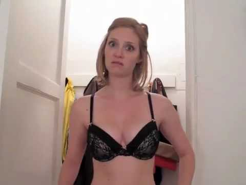 Crazy Girl Getting Undressed