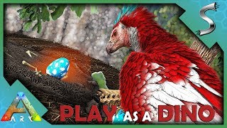 WE BUILT AN ARGY NEST IN A TREE TO RAISE OUR YOUNG! - Ark: Play As A Dino Mod [Argentavis Gameplay]