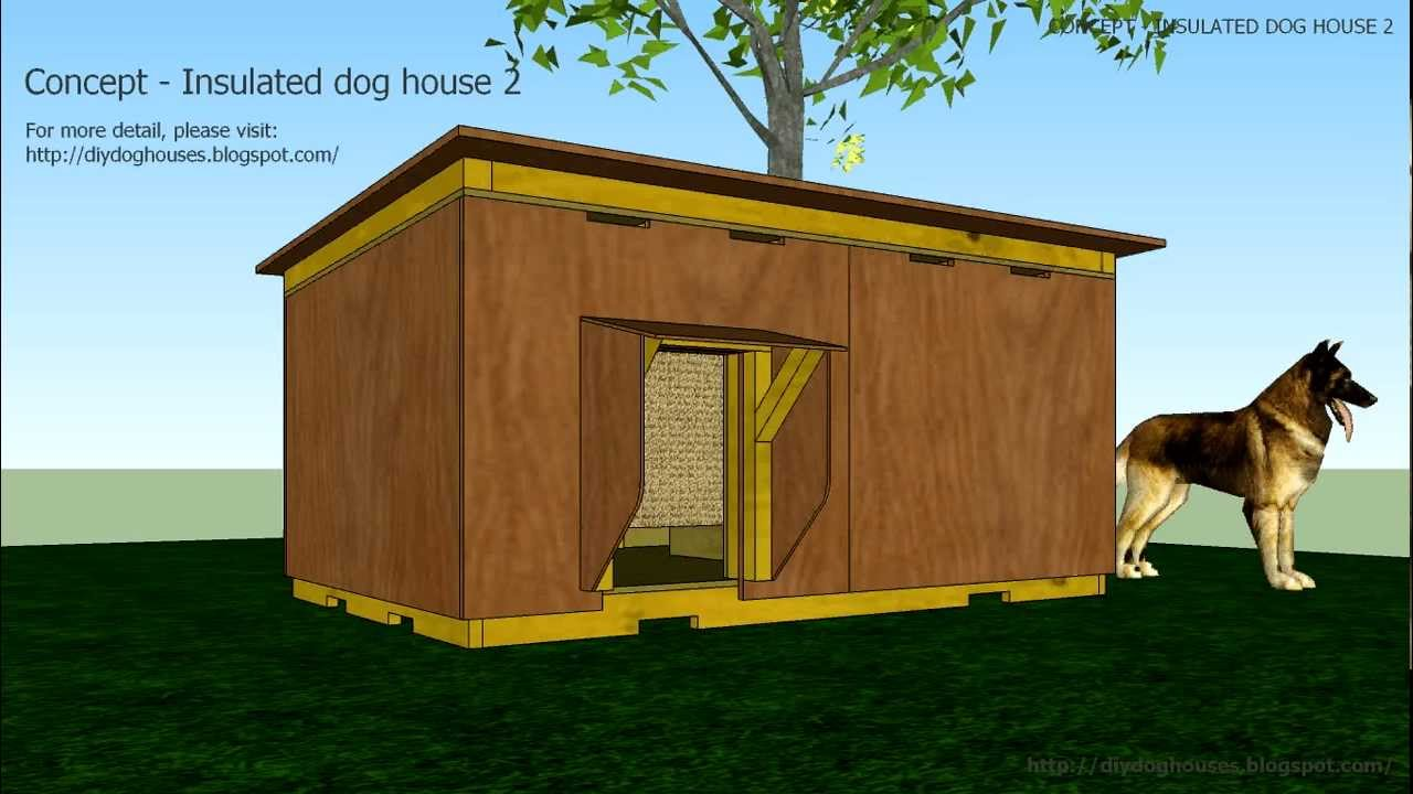 Concept insulated dog house 2 youtube - How to build a floor for a house concept ...