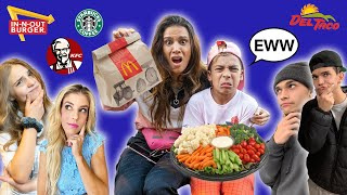 We Let FAMOUS YOUTUBERS Decide What We EAT For 24 Hours! 🤢 | The Royalty Family