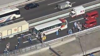 東関道多重事故で23人けが