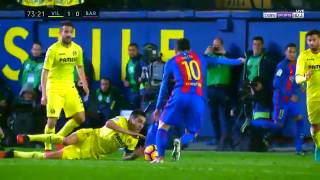 Villarreal vs FC Barcelona 1-1 All goals & highlights 08/01/2017 - Messi Goal