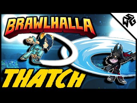 Road to Diamond Ranked Thatch 1v1's - Brawlhalla Gameplay :: Munchin With Some Sword and Blasters!
