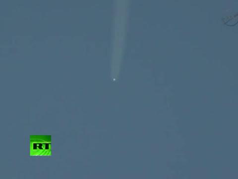 La nave espacial Soyuz sale rumbo a la Estación Espacial Internacional