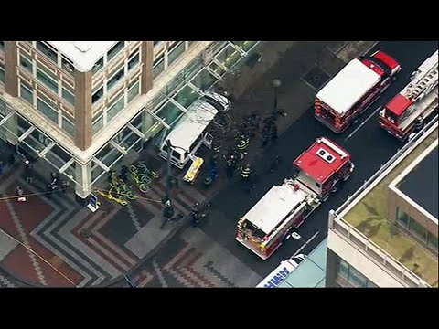 Van Crashes Into Pedestrians Injuring Six