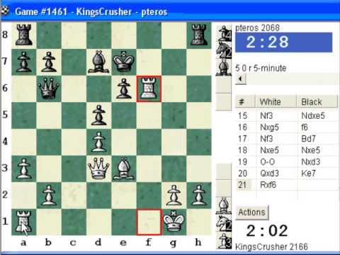 Chessworld.net : Blitz #265 vs. pteros (2068) - French Defense : Tarrasch, closed variation (C05)