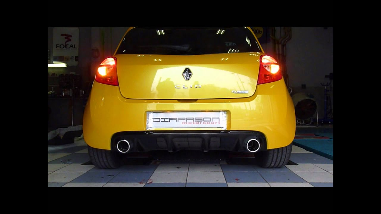 akrapovic exhaust renault clio 3 rs youtube. Black Bedroom Furniture Sets. Home Design Ideas