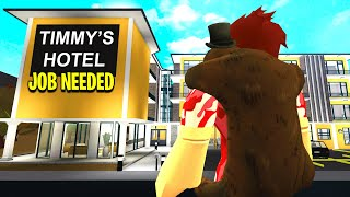 CREEPY Hotel Hired Me.. The Owner Had SECRET Cameras! (Roblox Bloxburg)