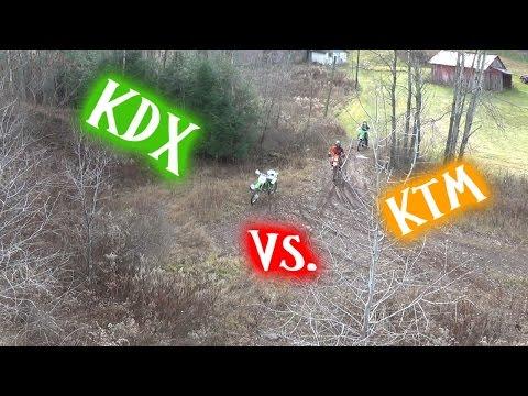 Kawasaki KDX 200 vs KTM 300 XC-W