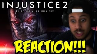 CAN YOU EVEN DODGE THAT?! Injustice 2 Introducing Darkseid! REACTION!!!